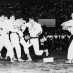Grandmaster Kim at an early Taekwon Do demonstration.