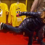 Kickin' It at the M&M Store