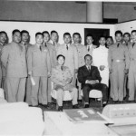 1959 Korean Military Officers and Taekwon Do Senior Belts, including General Choi. Grandmaster Kim 4th from the right.