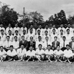 1963 Trip to Malaysia. Grandmaster Kim second row from bottom,  fifth from the left.